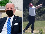 Biden called Trump a 'f****** a******' when he saw a big screen to practice GOLF in the White House